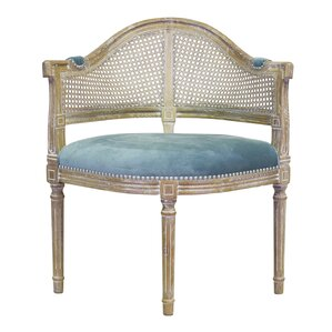 Caned Back Occasional Lounge Chair by Design Tree Home