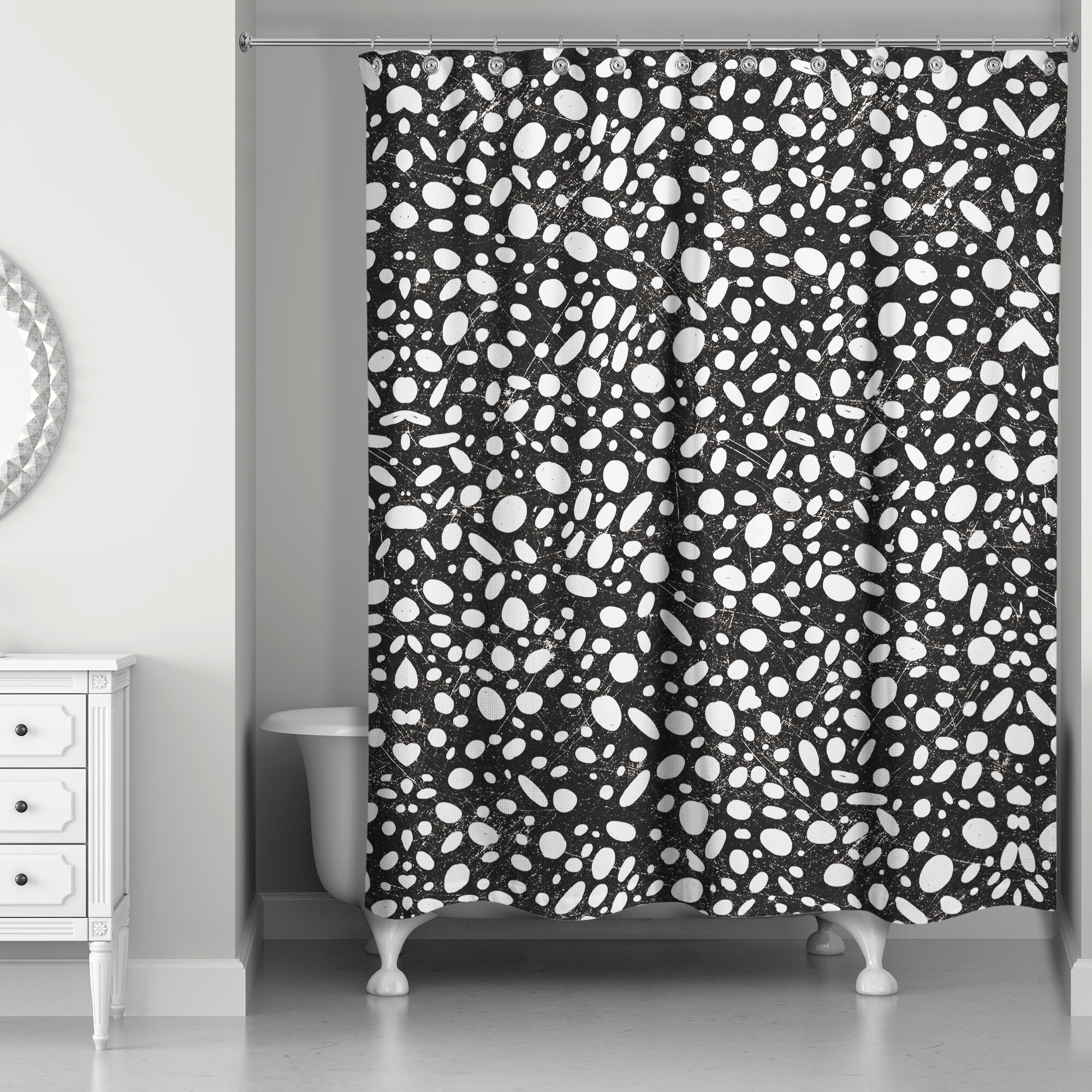 Orren Ellis Pekalongan Pebble Shower Curtain
