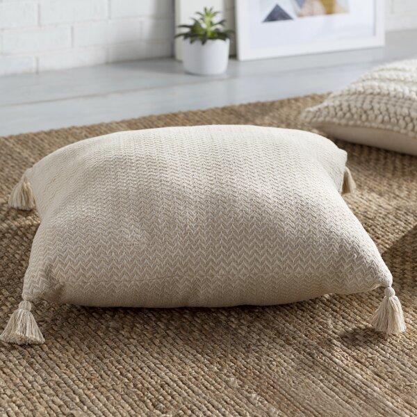 Mistana Hindsville Chevron Cotton Floor Pillow Reviews Wayfair