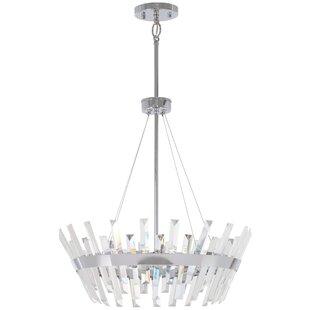 House of Hampton Laffoon 6-Light Crystal Chandelier