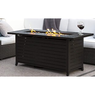 Outdoor Steel Propane Fire Pit Table