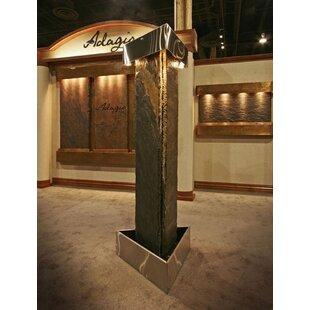 Adagio Fountains Artesian Springs Natural Stone/Metal Fountain with Light