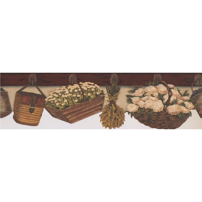 Bourque Baskets Flowers Hanging on Kitchen Wall Hooks Country 6.5\' L x 180\