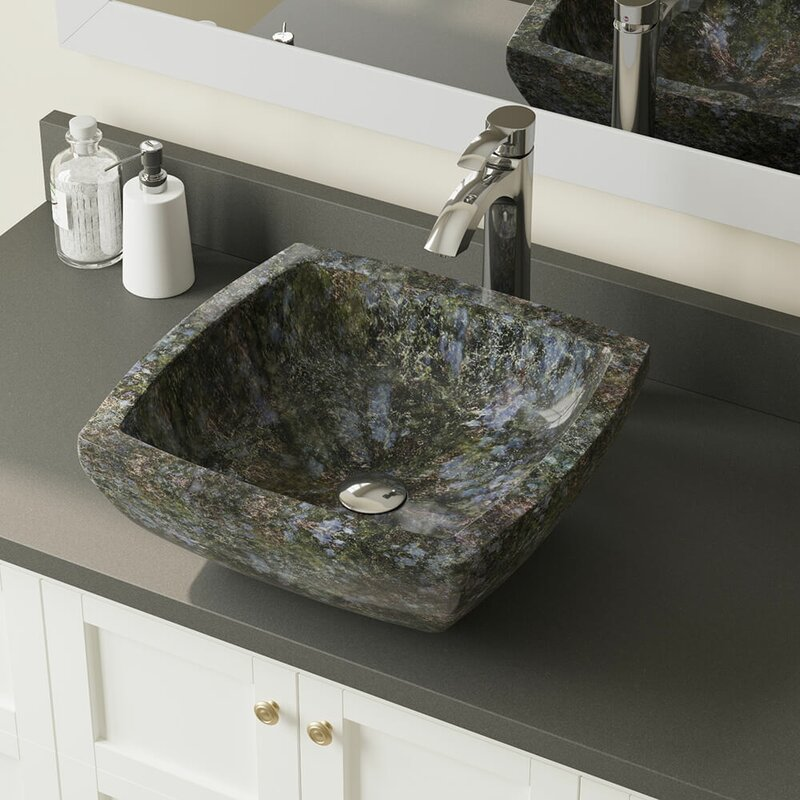 857 726 C Erfly Stone Square Vessel Bathroom Sink With Faucet