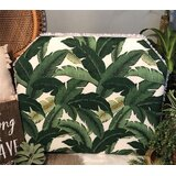 Houlihan Leaf Beveled Twin/Twin XL Upholstered Panel Headboard by Zoomie Kids