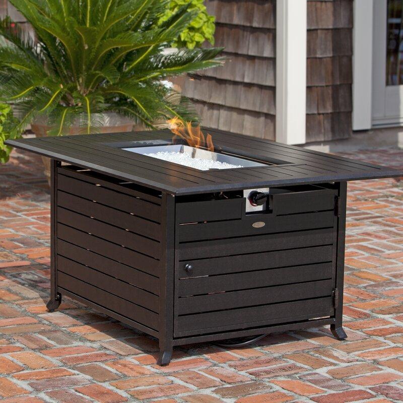 Superb Aluminum Propane Fire Pit Table