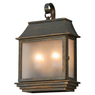 Top Reviews Uxbridge Pocket 2-Light Outdoor Wall Lantern By Canora Grey
