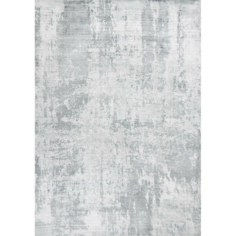 17 Stories Robicheaux Hand Woven Gray Rug Wayfair