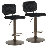 Wilkin Adjustable Height Swivel Bar Stool (Set of 2) by Mercer41