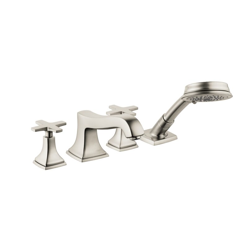 Hansgrohe Metropol Double Handle Deck Mounted Roman Tub Faucet Trim With Diverter And Handshower Perigold