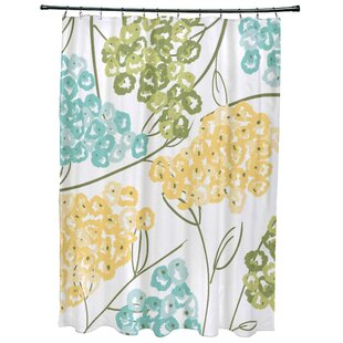 Christianson Hydrangeas Floral Print Single Shower Curtain by Red Barrel Studio 2019 Coupon