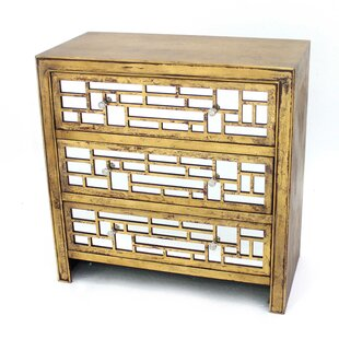 Jailyn Wooden 3 Drawers Accent Chest by Mercer41