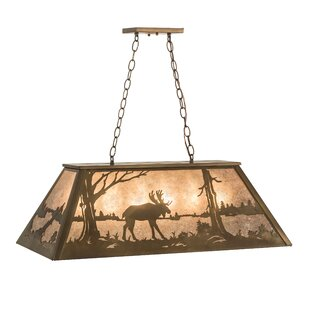Meyda Tiffany Moose at Lake 6-Light Pendant