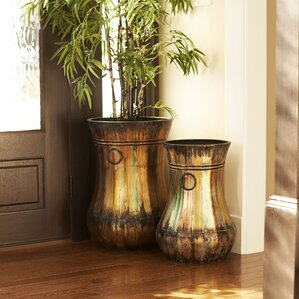 Hand Painted Trumpet Floor Vase Part 45