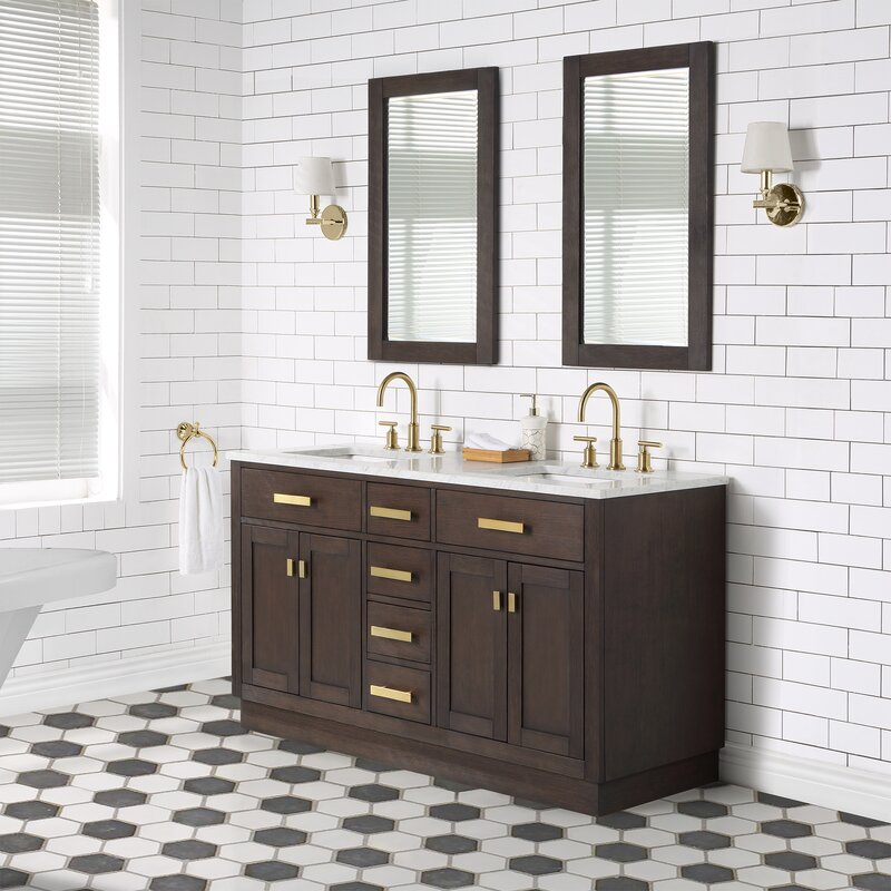 Brayden Studio Chestnut 60 Double Bathroom Vanity Wayfair