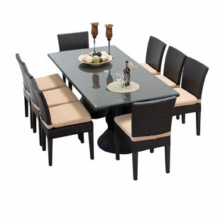 Napa 8 Piece Outdoor Patio Dining Set by TK Classics