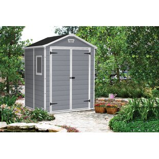 Manor 6 Ft. W X 5 Ft. D Apex Plastic Tool Shed By Keter