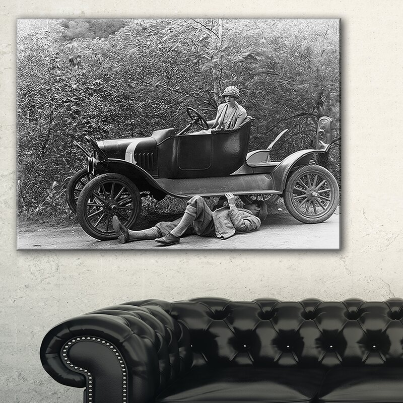 DesignArt Vintage Car Repair - 3 Piece Memorabilia on Wrapped Canvas ...