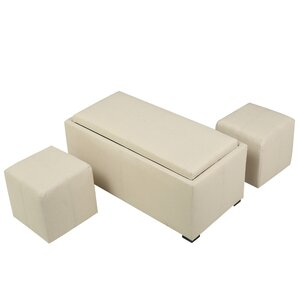 Kegan 3 Piece Lift Top Ottoman Set by Latitude Run