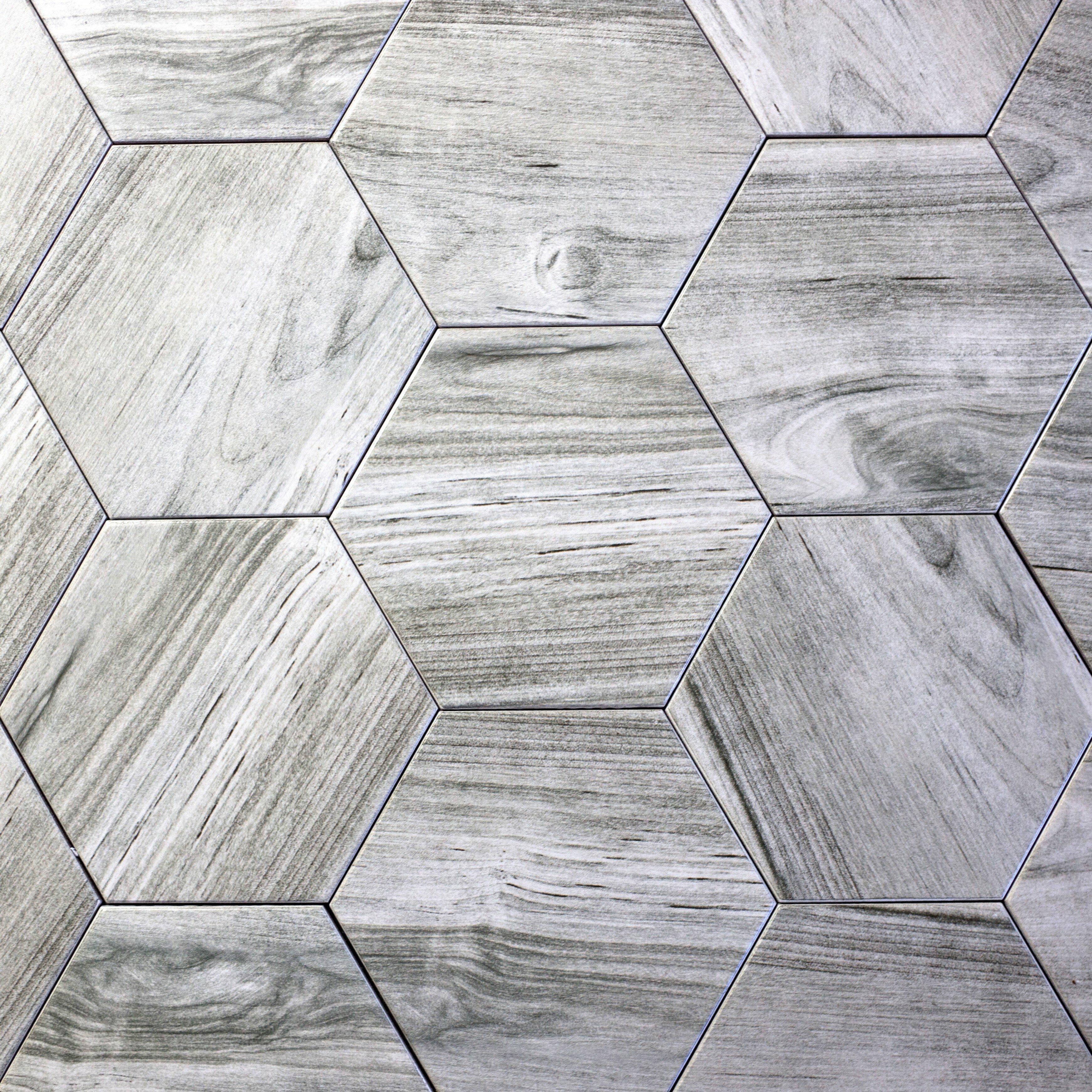 Rustic Country Bedroom Ideas Abolos Artisan Wood Hexagon 8 Quot X 8 Quot Ceramic Wood Look Tile