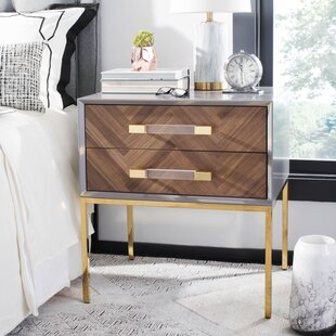 Kitterman 2 Drawer End Table by Everly Quinn