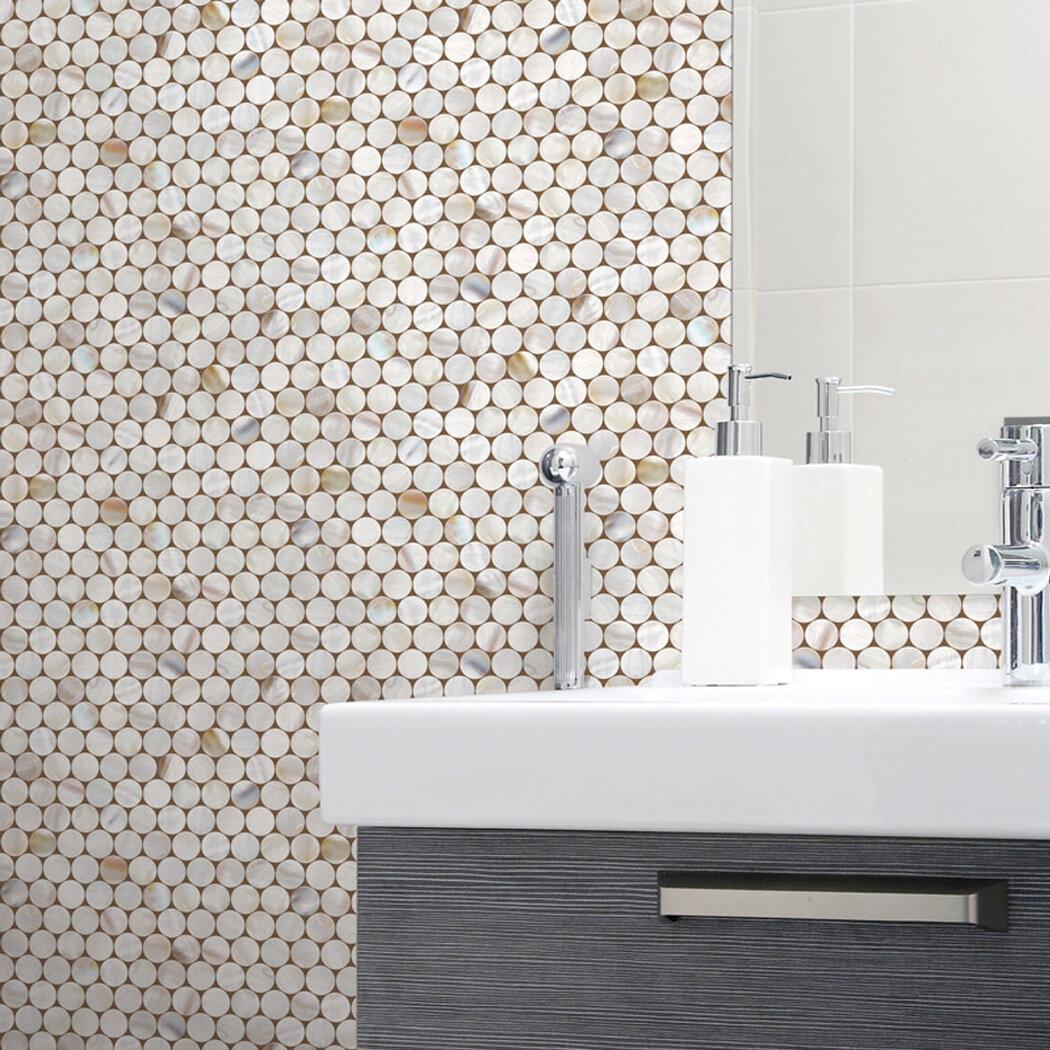 Wrought Studio Villicana Circle Tile 9 8 L X 19 6 W Peel And Stick Wallpaper Roll Reviews Wayfair