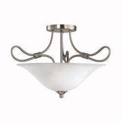 4.Stafford 2-Light Semi Flush Mount by Kichler