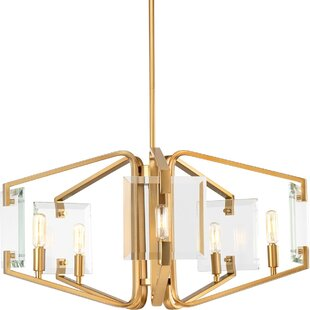 Janessa 5-Light Geometric Chandelier by Mercer41