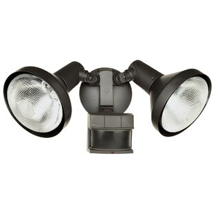 DualBrite 120-Watt Outdoor Security Flood Light with Motion Sensor by Heathco