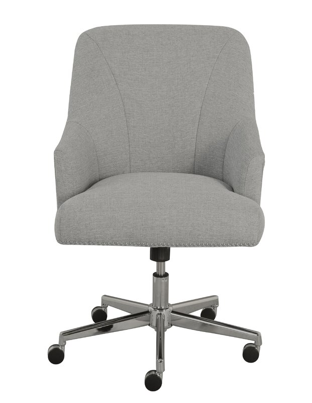 armless wood office chair with wheels. serta leighton mid-back desk chair armless wood office with wheels d