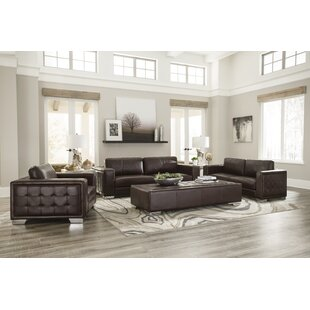 Compare prices Kuhn Leather Configurable Living Room Set by Brayden Studio Reviews (2019) & Buyer's Guide