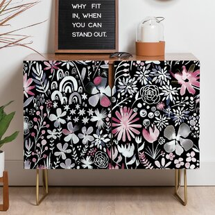Ninola Winter Ink Flowers Sideboard East Urban Home