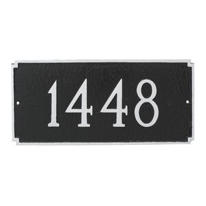 Madison 1-Line Wall Address Plaque