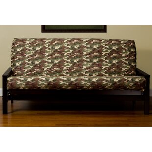 Washable Zipper Box Cushion Futon Slipcover Latitude Run