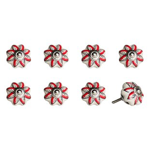 Handpainted Ceramic Novelty Knob (Set of 8) by Taj Hotel