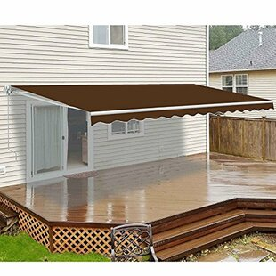 ALEKO Motorized 12 ft. W x 10 ft. D Retractable Patio Awning