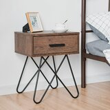 Mullinix Cross Legs End Table with Storage by 17 Stories