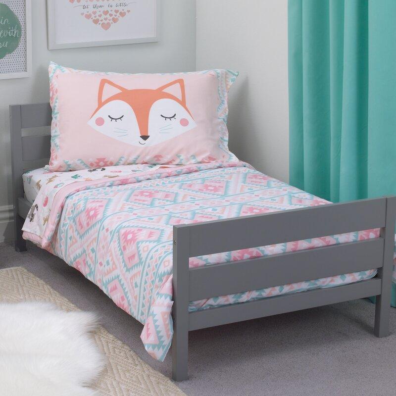 Carter\'s Aztec Girl 4 Piece Toddler Bedding Set & Reviews | Wayfair