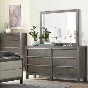 Melbourne 6 Drawer Double Dresser with Mirror