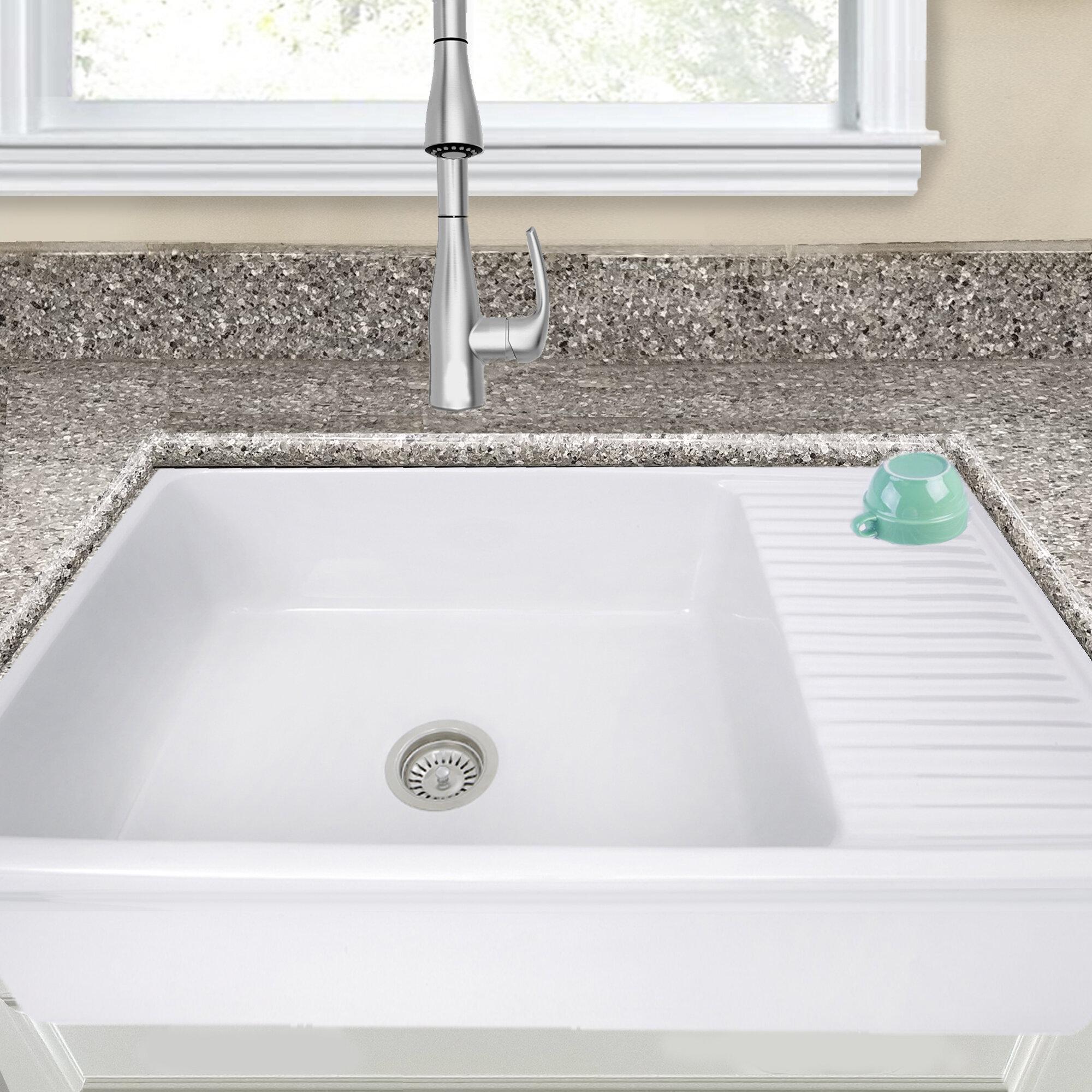 Farmhouse Kitchen Sink With Drainboard 42Nantucket Sinks Cape ...