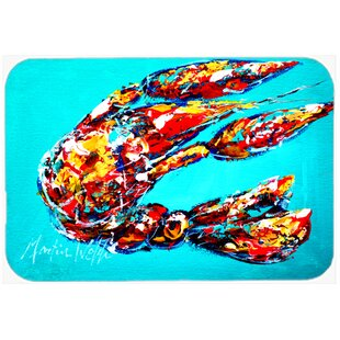 Lucy the Crawfish Glass Cutting Board ByCaroline's Treasures
