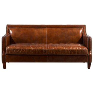Ransom Leather Sofa By Williston Forge