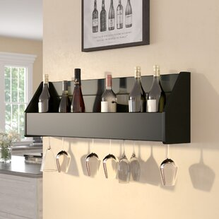 Klatt 18 Bottle Wall Mounted Wine Rack