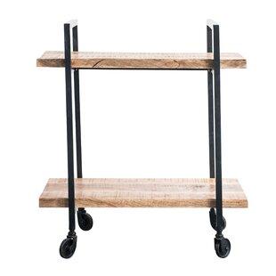 Noella Wood/Metal 2-Tier Bar Cart by Union Rustic