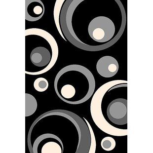Reviews Maez Black/White Area Rug By Latitude Run