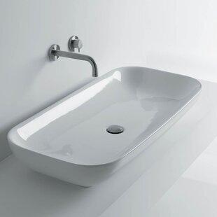 Buying Ciotola Rectangular Vessel Bathroom Sink ByWS Bath Collections