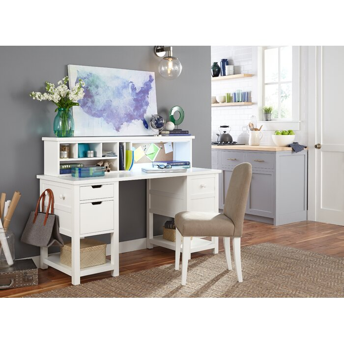 Lesli Desk With Hutch And Office Chair Set