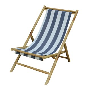 Danville Folding Bamboo Relax Sling Beach Chair