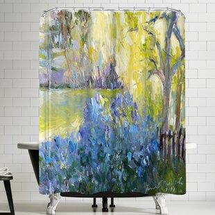 Richard Wallich Lilacs Shower Curtain