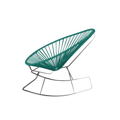 Brayden Studio Marvine Rocking Chair Color: Turquoise/Chrome